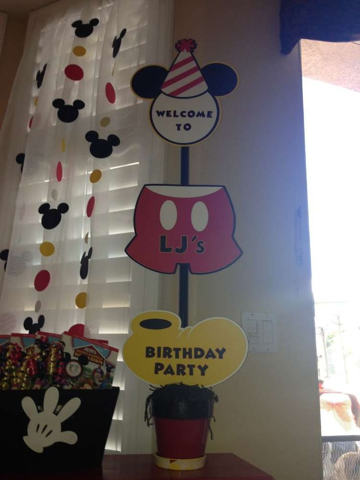 Mickey Mouse Birthday Party Ideas | Photo 2 of 24 | Catch My Party