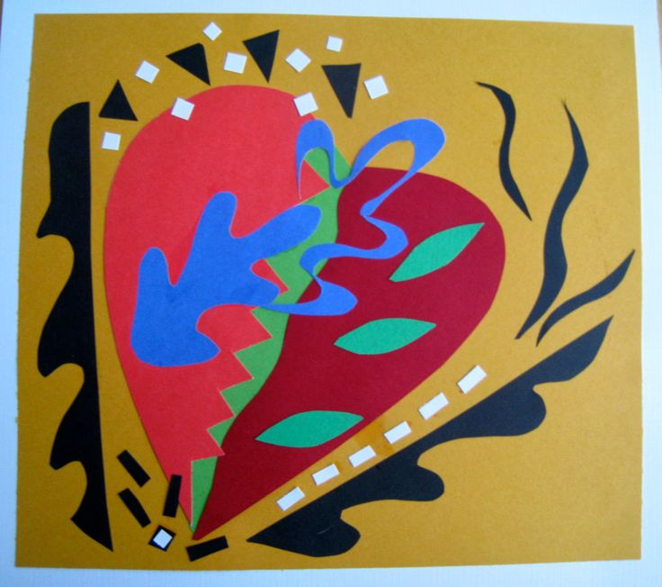 Matisse inspired heart by Judy Hartman