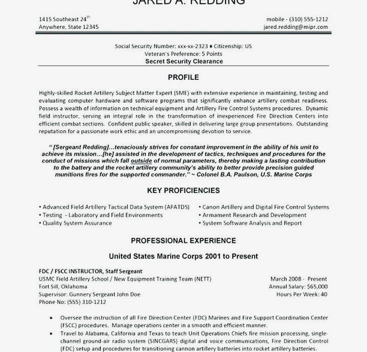 Military Veteran Resume Examples To Civilian Fresh Builder From Luxury Best Ever