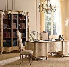 Classic Luxury Home Study Furniture by Andrea Fanfani Italy. Love the desk!