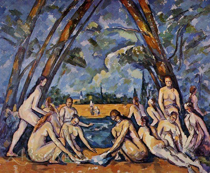 Paul Cézanne; Le grandi bagnanti; 1906; olio su tela; Museum of Art, Filadelfia.