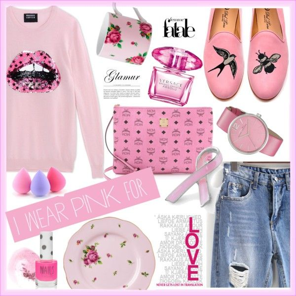 How To Wear I wear pink for --- Outfit Idea 2017 - Fashion Trends Ready To Wear For Plus Size, Curvy Women Over 20, 30, 40, 50