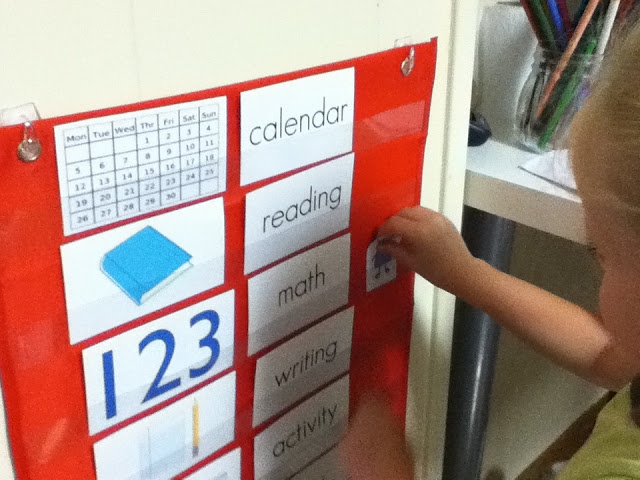simple preschool routine