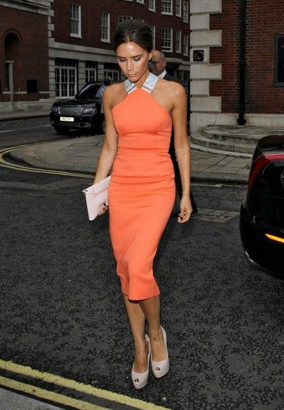 Victoria Beckham - orange dress