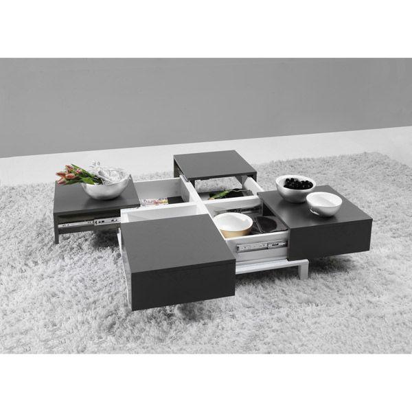 Table basse design avec rangements intégrés DEPLOY - Maison Facile : www.maison-facile.com