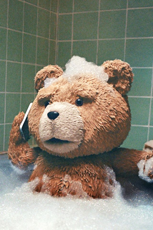 ↑↑TAP AND GET THE FREE APP! Art Creative Movie Cinema Ted Is Coming Bear Beer Bathroom Mobile Fun HD iPhone 4 Wallpaper