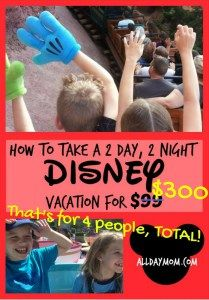 Disneyland on a Budget: How to leverage credit card opening bonuses to take a 2 day, 2 night Disney vacation for less than $300 total for 4 people! No Annual Fee Disney Visa $200 Disney Gift Card bonus, Amex Blue Cash Preferred $250 bonus, Southwest Visa 60,000 points bonus