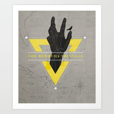 The Bermuda Triangle Art Print by Davies Babies - $17.99