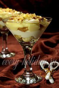 рецепт десерта Трайфл с бананом и ванильным кремом