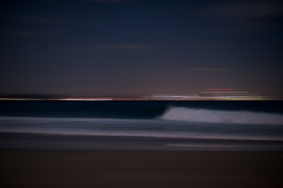 Snapper Rocks, Gold Coast… by the light if the silver moon. Easter 2012. Check out the @whitehorses blog post.