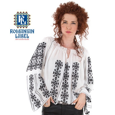 $151.22 Long-sleeved Traditional Romanian Blouse RL0009 100% hand made  http://www.romanianlabel.ro/en/ii-cu-maneca-lunga/ie-traditionala-romaneasca-cu-maneca-lunga-RL0009