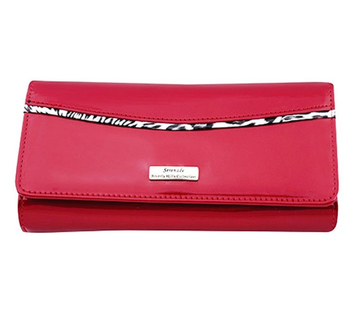 Serenade Phoenix Glossy Patent Leather Wallet Large. WSH5801.