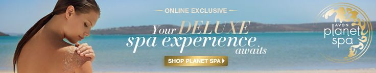 Check out AVON'S NEWEST PRODUCT!  PLANET SPA!  Have you ever wanted the SPA EXPERIENCE without going to the spa?  Well now you can with AVON PLANET SPA PRODUCTS!  Click photo!