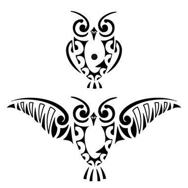 Maori owl tattoo - Here my tattoo - Find your tattoo online!