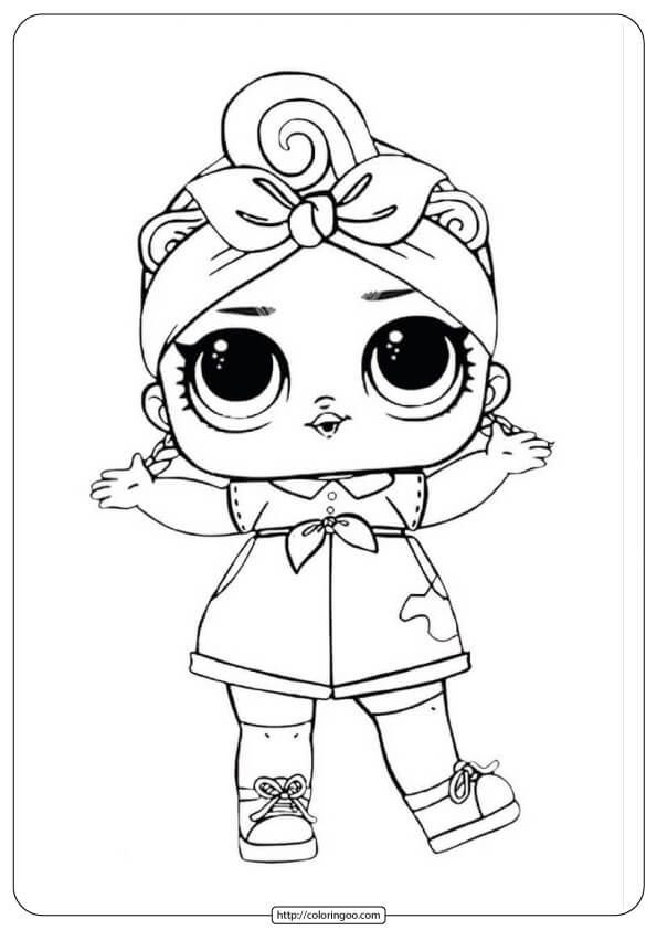 Lol Suprise Doll Coloring Page #queen #unicorn # ...
