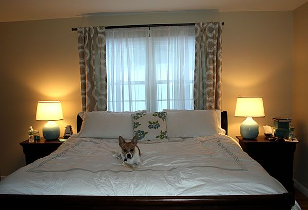 master bedroom bed against window - Google Search