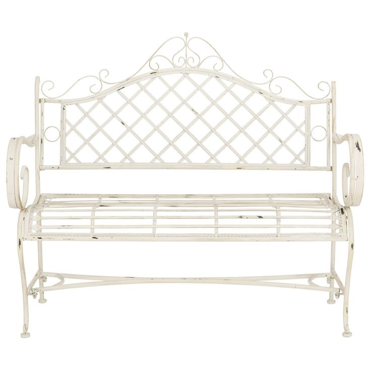 Hornellsville Wrought Iron Bench