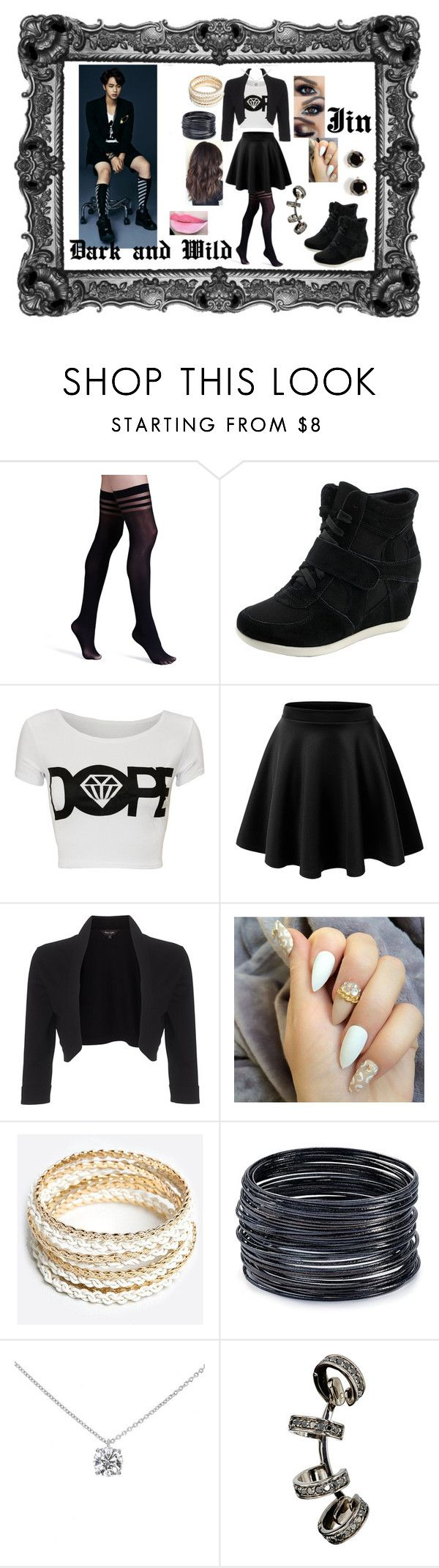 """""""Bts Jin dark and wild outfit"""" by princesscupid98 on Polyvore featuring Alice + Olivia, Phase Eight, ZooShoo, ABS by Allen Schwartz, Tiffany & Co., Repossi and Kate Spade"""