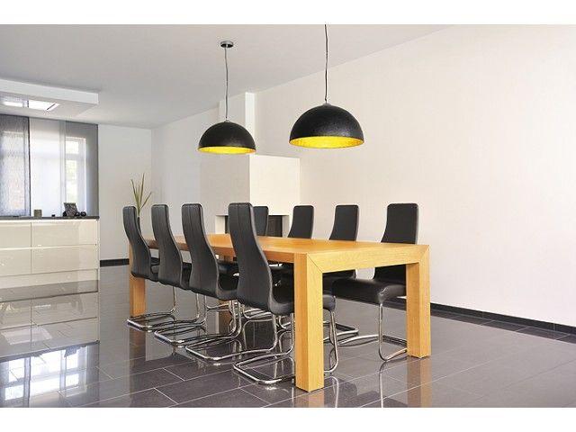 Zwarte hanglamp met gele binnenkant - Lampgigant.nl