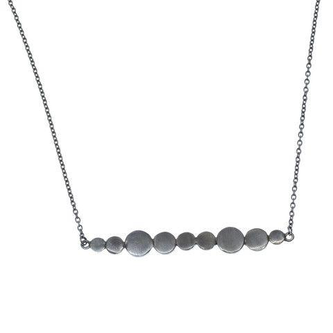 Bellabi, Silje Rhodium, halskæde, sort sølv