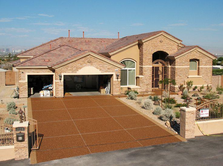 http://pebblestonecoatings.com/residential/driveways #Driveways #Resurfacing #LasVegas #Nevada #Henderson #PebbleStoneCoatings