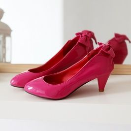 Fashion Patent Leather High Heel Shoes Plum