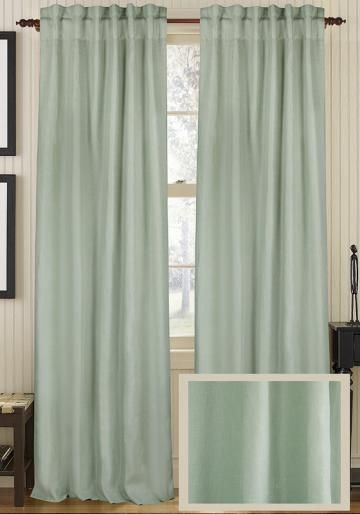 Classic Linen Curtain Panel - Draperies & Tiebacks - Window Treatments - Linens & Fabrics | HomeDecorators.com
