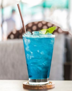 Big Easy Blue Punch with Blue Curaçao and Rum