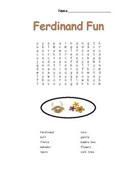 Ferdinand the Bull Word Search