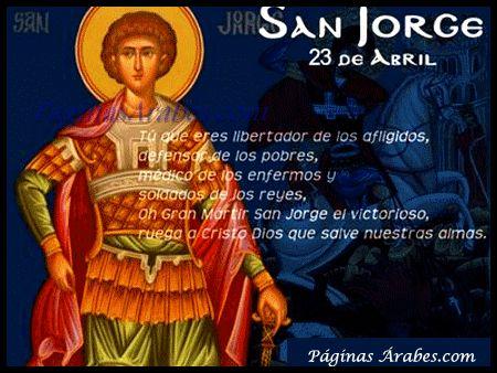 De Fiestas, Cristianos y Dragones  - Día de San Jorge  http://paginasarabes.com/2012/04/23/de-fiestas-cristianos-y-dragones-dia-de-san-jorge/