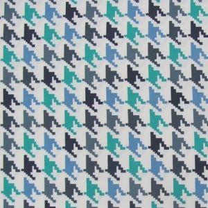 Tkanina BLUE 'Pepite' zasłonowa, obiciowa, pepitka