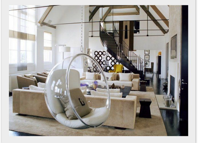 kelly hoppen bubble chairi think iu0027m breaking down and liking the idea of the kiddos having a swing in our living room since our ceiling looks like