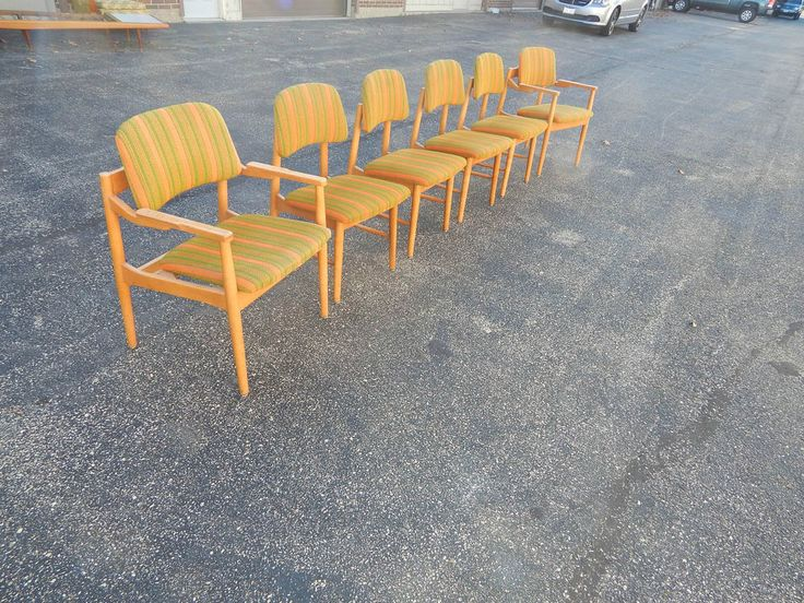 Mid Century Modern Dining Chairs set of 6 Risom Probber Nelson