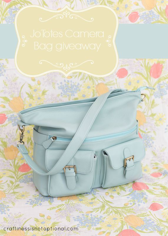 craftiness is not optional: Jo Totes camera bag review and giveaway!
