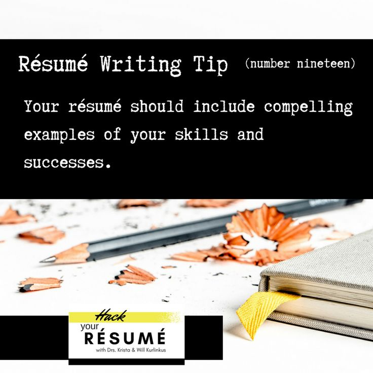 13++ Resume current position tense ideas