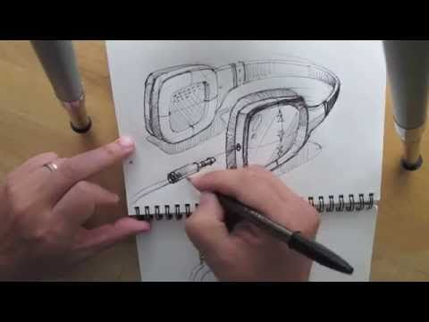 ▶ How to draw Headphone, Product Design Sketching. - YouTube