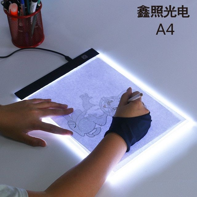 A4 Led Light Box Tracer Digital Tablet Graphic Tablet Writing Painting Drawing Ultra Thin Tracing Copy Pad Board Artcraft Sketch Review Drawing Tablet Digital Tablet Doodle Paint