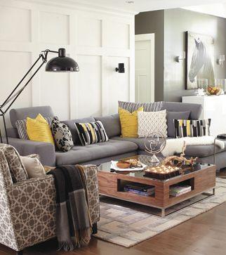 deco gris blanc jaune. Black Bedroom Furniture Sets. Home Design Ideas