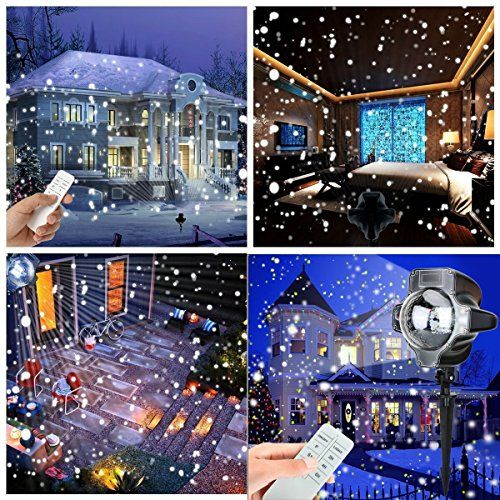 Snowfall-Decorative-Light-Yoyokit-Led-Projector-Rotating-Low-Voltage-Spotlight-with-Remote-Control-Waterproof-Outdoor-Indoor-Landscape-Snowflake-Decorative-lighting-for-Christmas-Halloween-Birthday-Pa