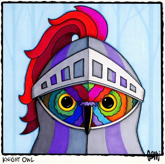 Knight Owl by AEMgallery