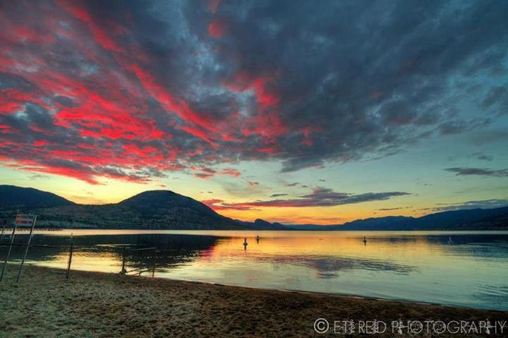 Sunset over Okanagan Lake