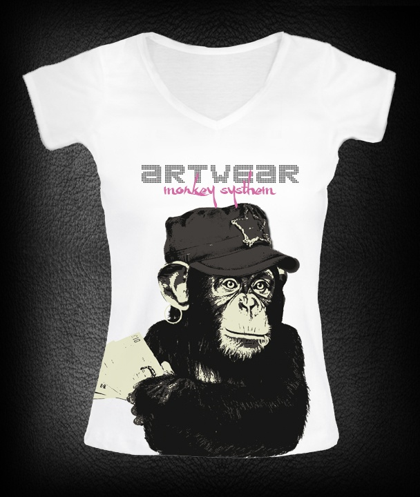 T-shirt femme Monkey Money  P-plum