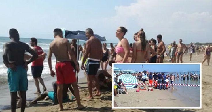 Tragedia a Napoli, donna muore in spiaggia Una donna a Napoli è morta dopo aver cercato di salvare due bambini che erano in difficoltà in acqua a mare. La donna dopo essersi tuffata è stata risucchiata dalla corrente del mare. Ovviamente sono