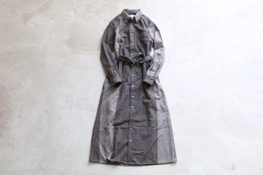 "[ladie's]FWK by Engineered Garments(エフダブリューケイ バイ エンジニアードガーメンツ) ""BD Long Dress - Big HB St."""