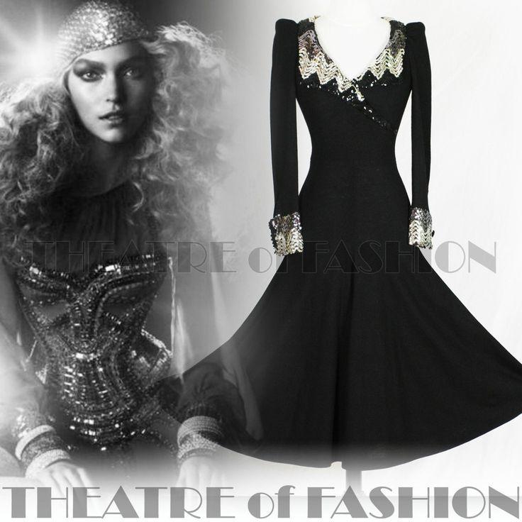 The MOST GORGEOUS iconic Biba dress! And in such lovely condition. Iconic ~ Biba ~ 60s ~ 70s ~ Studio 54 ~ Art Deco ~ 30s Hollywood ~ 40s Jazz Club ~ Glamour ~ Vamp ~ Diva ~ Supermodel ~ Lavish ~ Luxury ~ Paris ~ Left Bank~ Sexy ~ Sleek ~ Siren ~ Film Noir ~ Femme Fatale ~ Noir Beauty.   eBay!