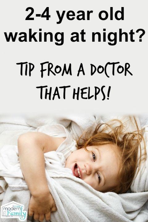 2, 3, 4 year old waking up at night