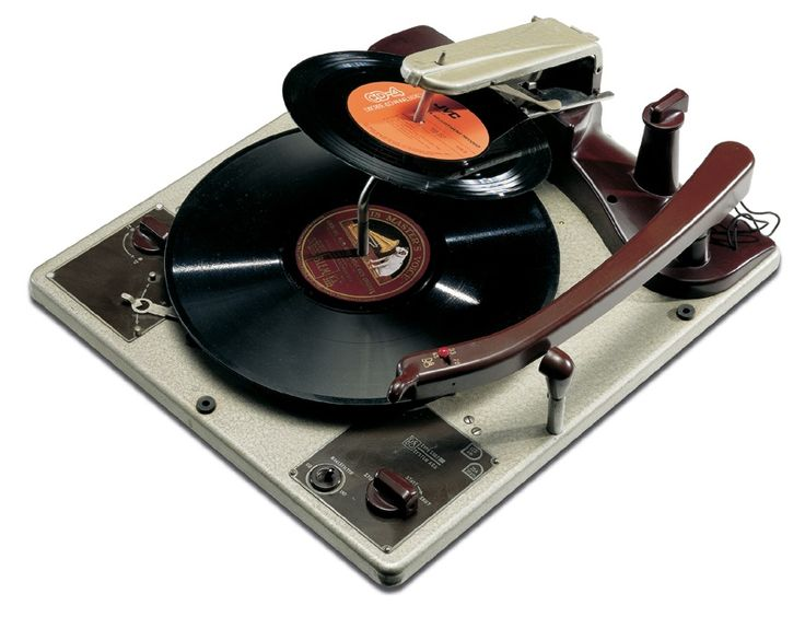 Have a look at this old record player from 1952!