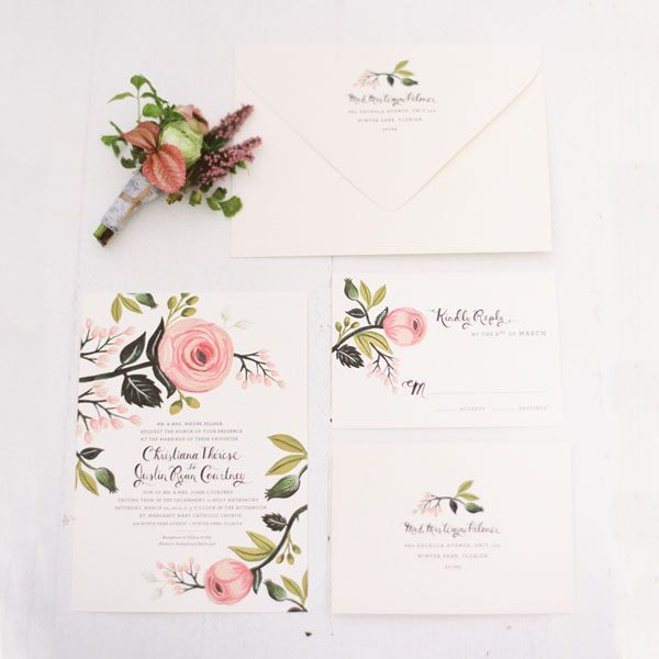 Weddbook ♥ Wedding invitation pretty in pink