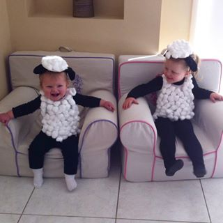 This Shaun the Sheep duo. | 24 Parents Who Are Totally Nailing Book Week Costumes