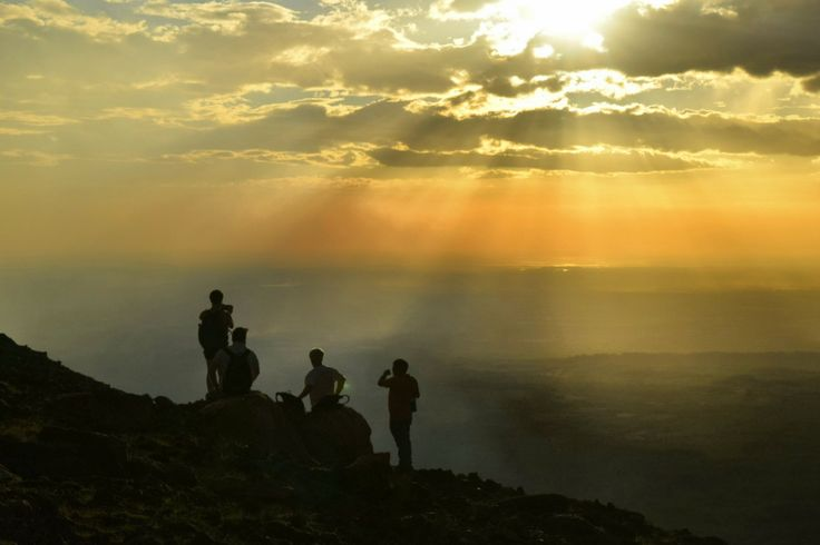 Sunset on Volcano Telica #nicaragua